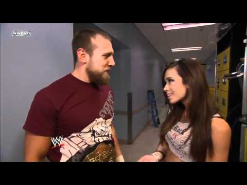 720pHD - WWE SmackDown 01/06/12 Alicia Fox, A.J. & Daniel Bryan Backstage Segment