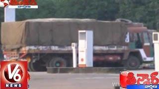 Heavy vehicles thieves raising in Hyderabad - Teenmaar News - V6NEWSTELUGU