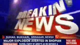 Major bomb blast averted in Shopian - NEWSXLIVE