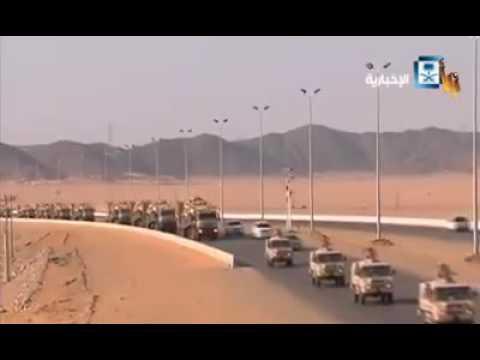 السعوديه تسحب قواتها من الحد الجنوبي وتستبدله بعناصر من داعش ومرتزقه من انحاء العالم شاهد