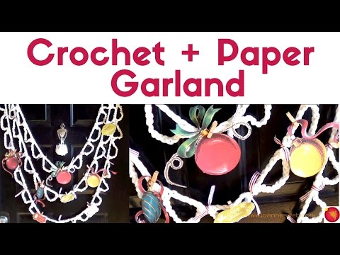 Crochet and Paper Image Garland with GraphicStock
