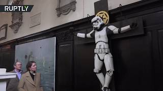 Dark Side of the Church: Stormtrooper crucified in London - RUSSIATODAY