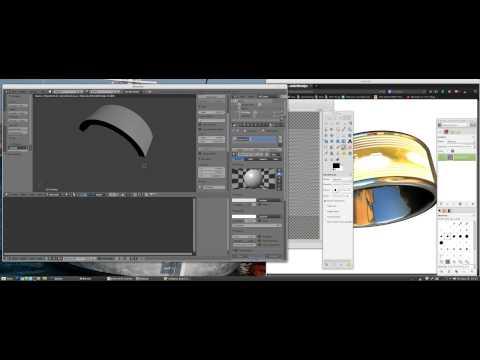 STL UVMap Image ThreeJS Blender & Gimp