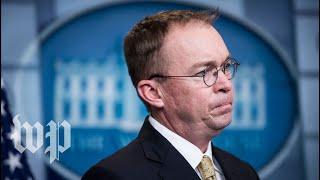 Trump names Mick Mulvaney acting chief of staff - WASHINGTONPOST
