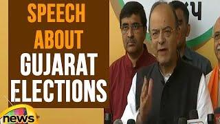 Finance Minister Arun Jaitley Speech About Gujarat Elections | Mango News - MANGONEWS