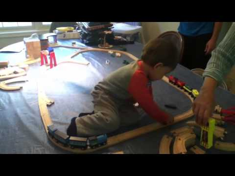 Timmy and his train set