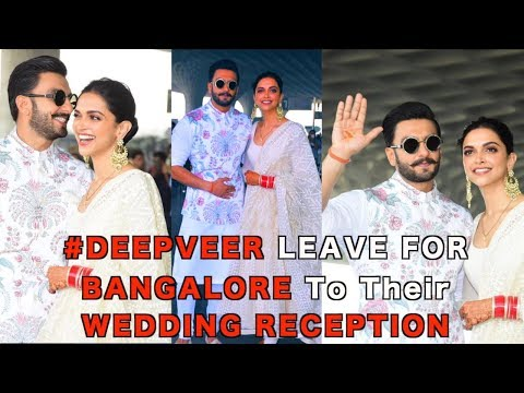 DEEPVEER ♥️ Spotted @ Airport As they Leave For WEDDING Reception in Banglore | Deepika | Ranveer