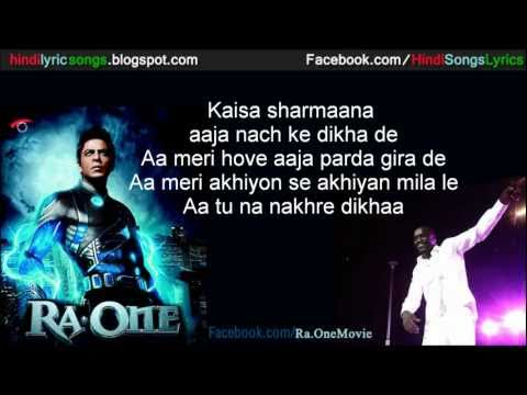 RA.One Song: Chammak Challo by AKON with Lyrics