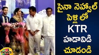 KTR at Saina Nehwal,Kashyap Wedding Reception |KTR Special Appearance at Saina Reception |Mango News - MANGONEWS
