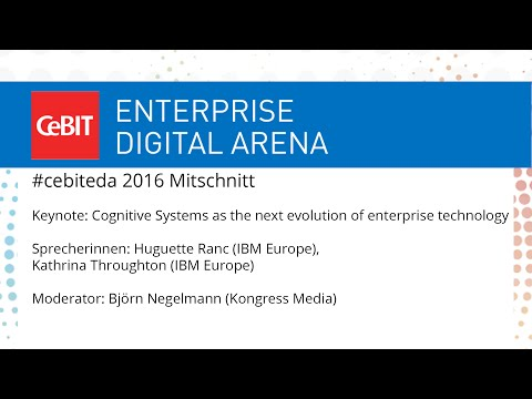 #cebiteda16: Cognitive Systems as the next evolution of enterprise technology