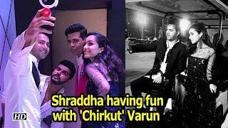 IIFA 2018: Shraddha having fun with 'Chirkut' Varun - IANSLIVE