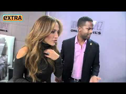 Jennifer Lopez interview w AJ Calloway on Extra