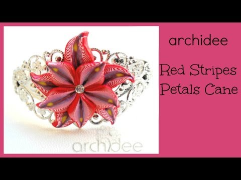 Tutorial paste polimeriche : murrina red stripes petals