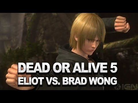 Eliot vs. Brad Wong on Sanctuary - Dead or Alive 5 Gameplay