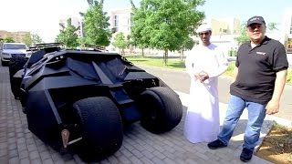 """تجربة قيادة سيارة باتمان """"باتموبيل"""" مع حسن الكتبي"""