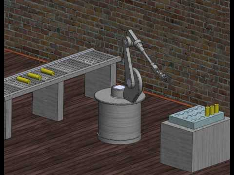 Robot arm simulation in Solidworks2009