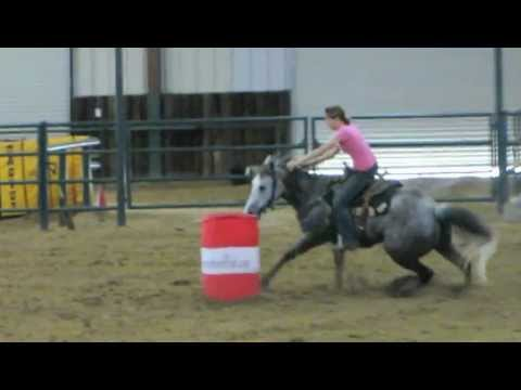 "Lil Lena Rey ""Raylyn"" - 4/5/12 exhibition at barrel race 17.543 - Valley View Ranch"