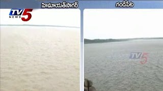 Hyderabad | Massive Floods into Gandipet Lake, Himayat Sagar Reservoirs : TV5 News - TV5NEWSCHANNEL