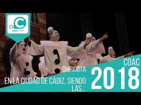 Sesión de Preliminares, la agrupación En la ciudad de Cádiz actúa hoy en la modalidad de Chirigotas.