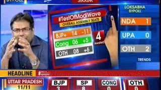 Bypoll results: BJP is leading in four seats, SP leading in seven - NEWSXLIVE
