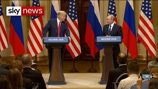 Donald Trump and Vladimir Putin hold press conference - SKYNEWS