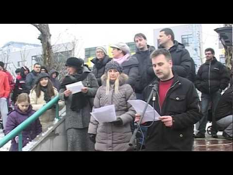 02 - Željko Milošević | Veliki protest - Naselje Stepa Stepanović 07.02.2015.