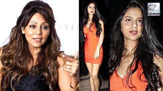 Shah Rukh's Wife Gauri Khan's REACTION On Suhana's Orange Dress   LehrenTV