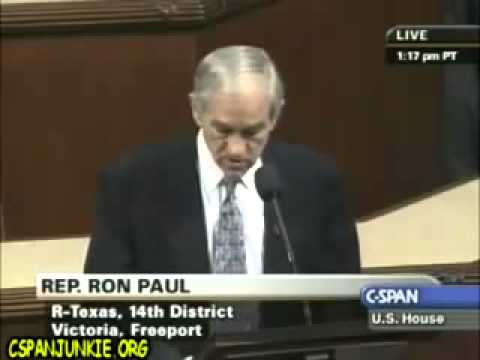 Congressman Ron Paul on the floor of the House