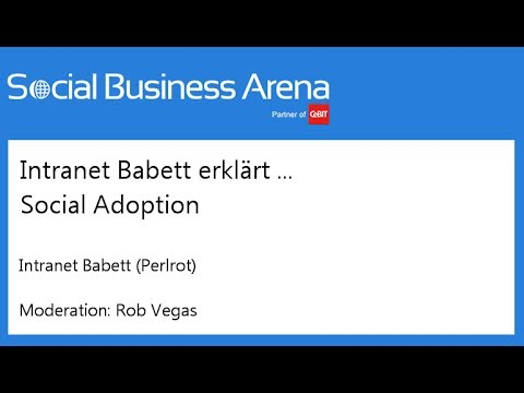 #cebitsba 2014 | Intranet Babett erklärt ... Social Adoption