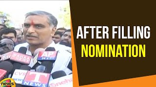 Harish Rao Speaks to Media After Filling Nomination at Siddipet| Telangana Elections 2018 |MangoNews - MANGONEWS