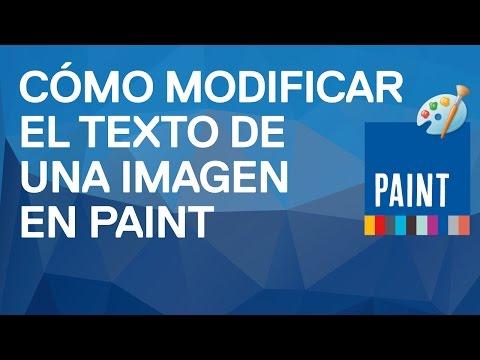 Cómo modificar el texto de una imagen con Paint. Trucos.Tutorial Funcionarios Eficientes