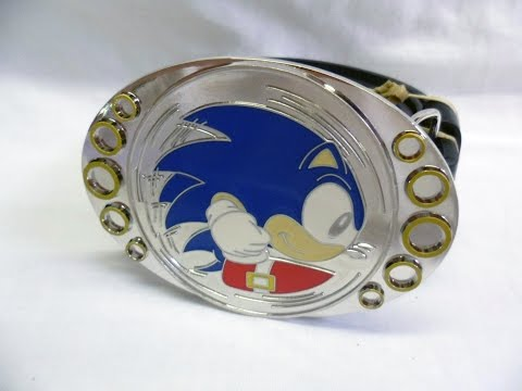 Sonic the Hedgehog Spinning Belt Buckle | Too Much Gaming