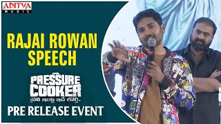 Rajai Rowan Speech @ Pressure Cooker Movie Pre Release Event | Sai Ronak, Rahul Ramakrishna - ADITYAMUSIC