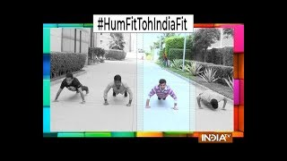 India TV joins the #HumFitTohIndiaFit challenge started by Sports Minister - INDIATV