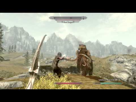 Skyrim Dawnguard DLC: Auriel's Bow vs Dragon (Best Bow in Skyrim?)