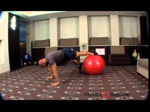 Prone Plank and Lateral Leg Abduction on Stability Ball - Fitness Republic