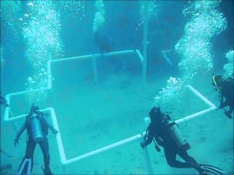 غواصون يبنون مسجدا تحت الماء