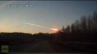 detik detik terjadinya hujan meteor di rusia...