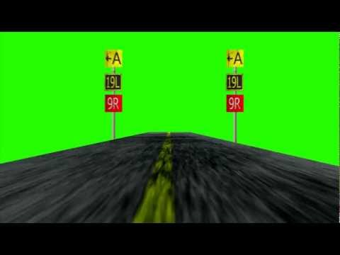 Airstrip Airplane runway - Green Screen Animation
