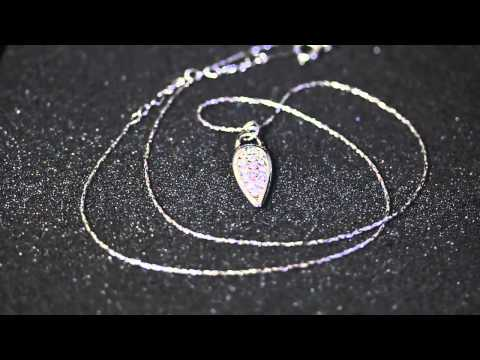 Venus Jewelry Store - Earring - Silver-Plated Natural-Gem Teardrop Earring