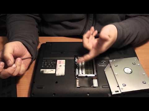 как устаеновить 2-ой твердый диск в ноутбук асер