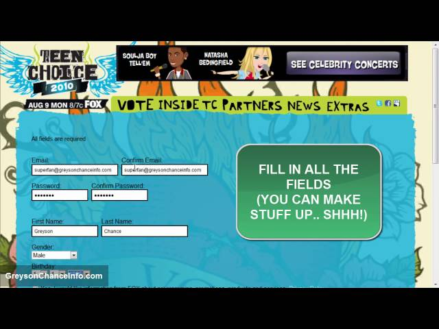 Vote for Greyson Chance (2010 Teen Choice Awards)