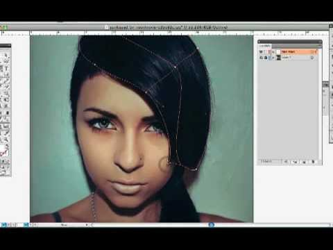 "Illustrator Gradient Mesh ""Hair"" Tutorial 1"