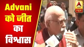 LK Advani casts vote, says 'Jeet hamari hogi' - ABPNEWSTV