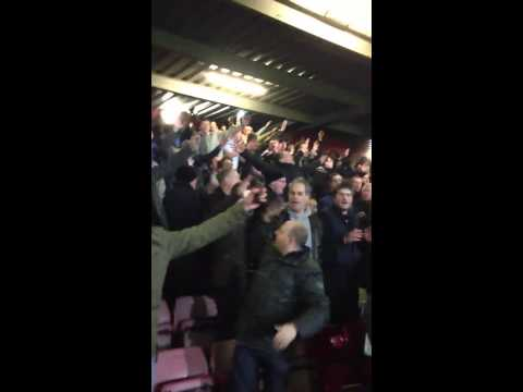 West Ham v Tottenham, Spurs fans having a post match party,
