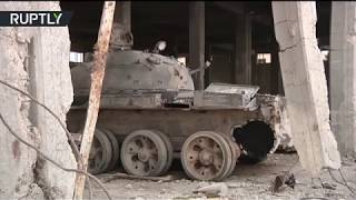 Former ISIS 'shakhid tank' construction hub shown to journalists - RUSSIATODAY