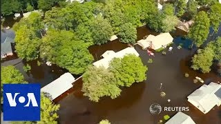 A bird's-eye view of North Carolina under water - VOAVIDEO