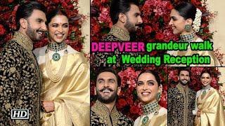 Deepika- Ranveer grandeur walk at Wedding Reception - IANSINDIA