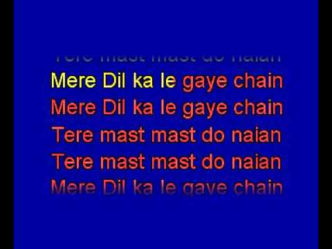 Tere Mast Mast Do Nain karaoke hindi song  Rahat Fateh Ali Khan  Dhabang    YouTube
