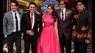 Kill Dil Promotions on KBC – Ranveer, Parineeti & Govinda - IANSINDIA